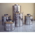50 Lt. Volume Stainless Flat Bottom Oil Drum