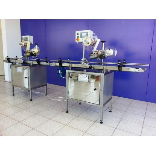 OEK Serisi Yuvarlak ve Prizmatik Şişeler in Ön/arka Etiket Makinesi ve Inkjet Konveyör
