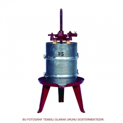 130 litre hacimli Paslanmaz Çelik Kafesli Pres